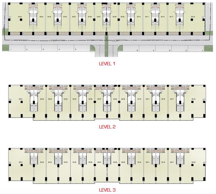 L1 - L3 Shop House Floor Plan