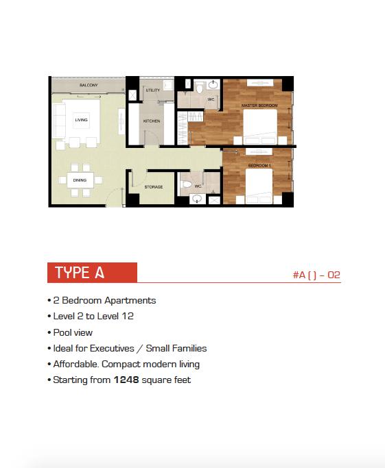 Type A, B Floor Plan