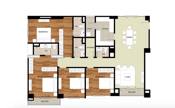 Type C, D Floor Plan